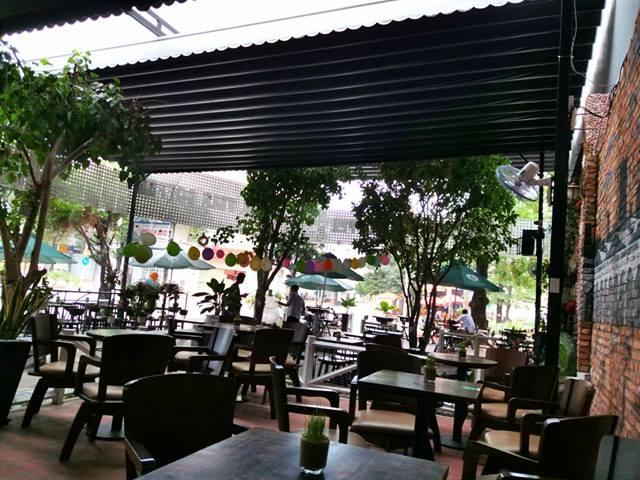 mái che quán cafe