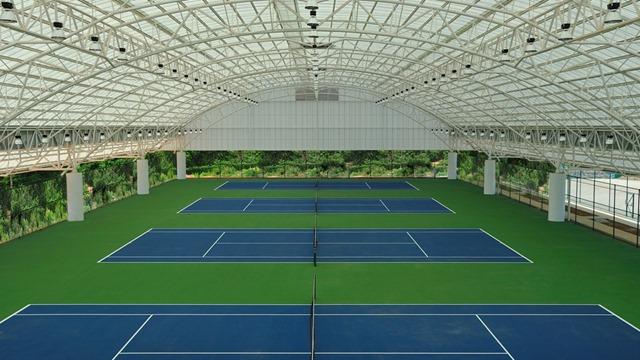 Mái che sân tennis
